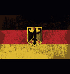 flag of germany in retro style vector image vector image