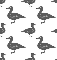 Hand Drawn Duck silhouette seamless pattern vector image vector image