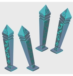 Magical artifacts with runes cartoon image vector image vector image