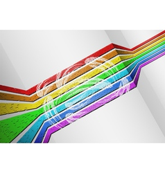 voluminous rainbow background vector image vector image