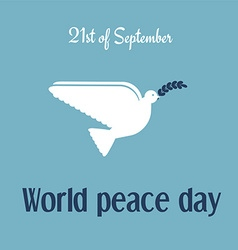 World peace day 21st of September vector image