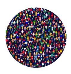 worldwide people vector image vector image