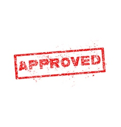 approved red stamp vector image vector image