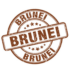 brunei brown grunge round vintage rubber stamp vector image vector image