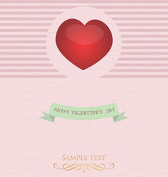 card with valentine s day vector image vector image