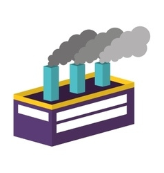 industry factory building icon isometric vector image
