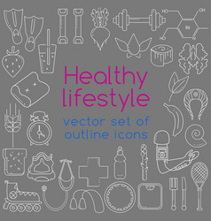 outline icons vector image