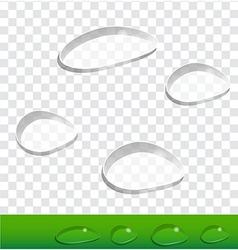 Set Drops vector image