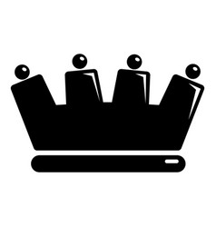 silhouette crown icon simple black style vector image vector image