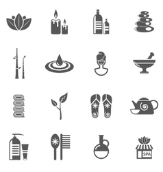 Spa And Relax Icons Set vector image vector image