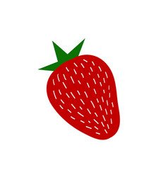 summer strawberry vector image vector image