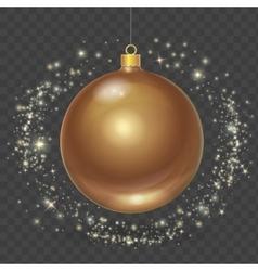 Christmas ball with gold stars Xmas design vector image vector image