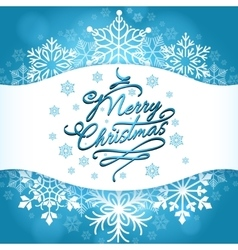 Christmas card design with white snowflakes vector image vector image