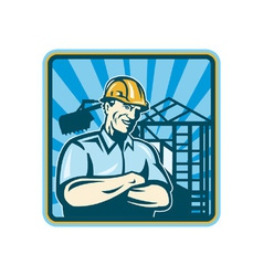 Construction Engineer Foreman vector image