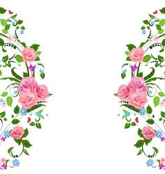 foliate frame vector image vector image