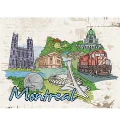 montreal doodles vector image