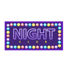 Night club emblem vector