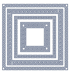 square frame with greek ornament meander style pa vector image