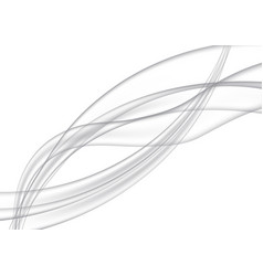 transparent wavy gray lines abstract vector image vector image