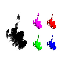 3d map of scotland vector image