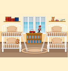 a dormitory bedroom background vector image