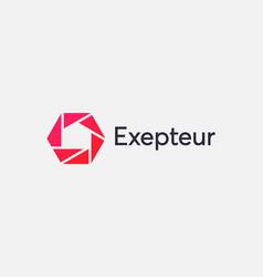 abstract shutter logo icon design modern minimal vector image