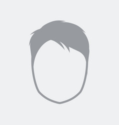 Avatar face flat clean minimal and isolated with vector