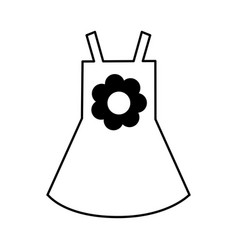 Beach girl dress with flower vector