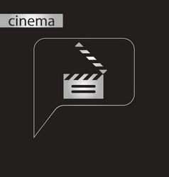 Black and white style icon film slapstick vector