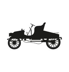 Black silhouette of a retro car vector image