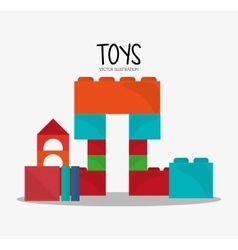 Blocks toy and game design vector