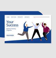 business landing page template successful vector image