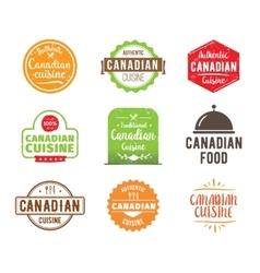 Canadian cuisine label vector