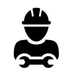Contractor icon male worker person profile avatar vector