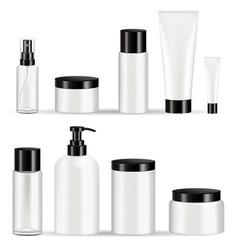 cosmetic bottles packaging set vector image