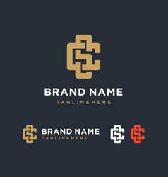creative elegant letter cs monogram logo design vector image