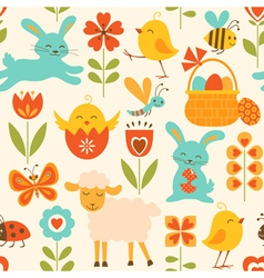 Cute easter pattern vector