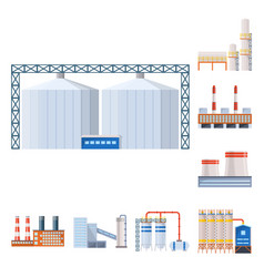 design industry and building icon set vector image