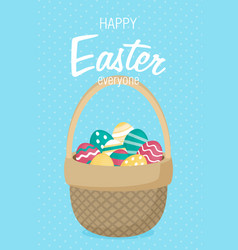 easter in flat style vector image