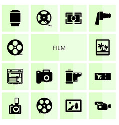 film icons vector image
