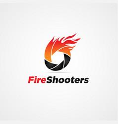 fire shutter logo symbol vector image