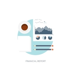 Flat Flat background Finance vector image