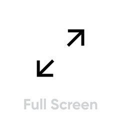full screen icon editable line vector image