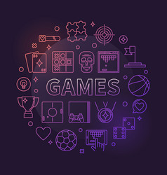 games concept circular linear colorful vector image