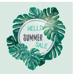 green summer tropical background vector image