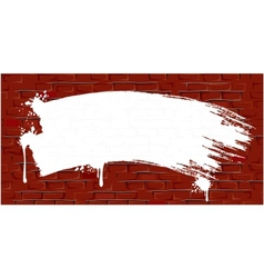 Grunge Brick Wall Background with Paint Strokes vector