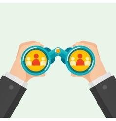 Hand and Binocular Recruitment concept vector image