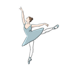 hand drawn ballerina icon vector image