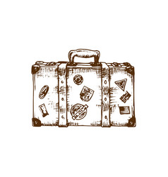 Hand sketch of suitcase vector