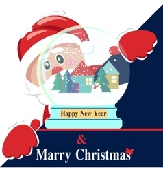 Happy New Year background with Santa Claus vector image